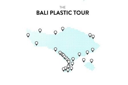 bali plastic tour map