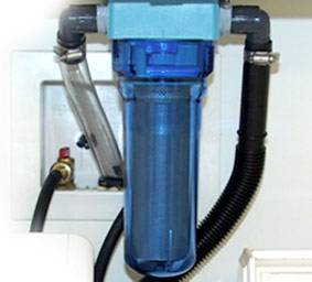 Lint LUV-R filtering system used to collect microfibres