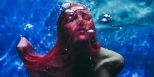 unwrapped calendar image - woman underwater