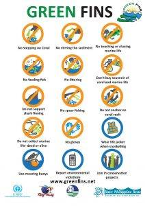 Green Fins code of conduct icons