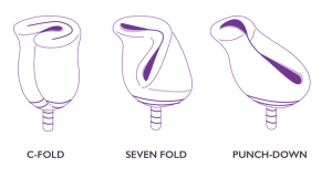 3 ways to fold a menstrual cup
