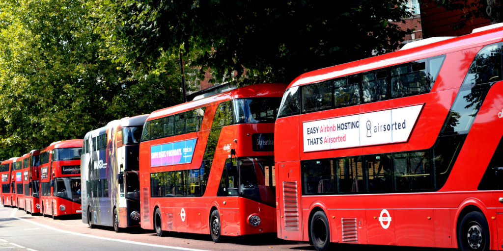 double decker busses in a row, to help illustrate how much 20 tonnes is