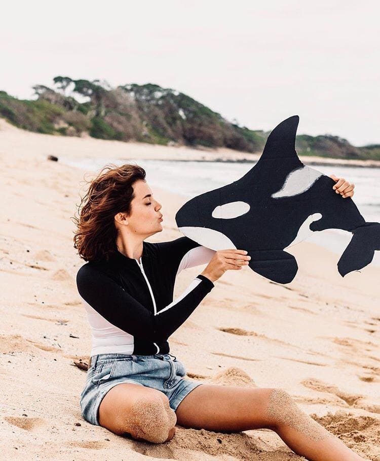 marine biologist Kendra showing her love for orcas